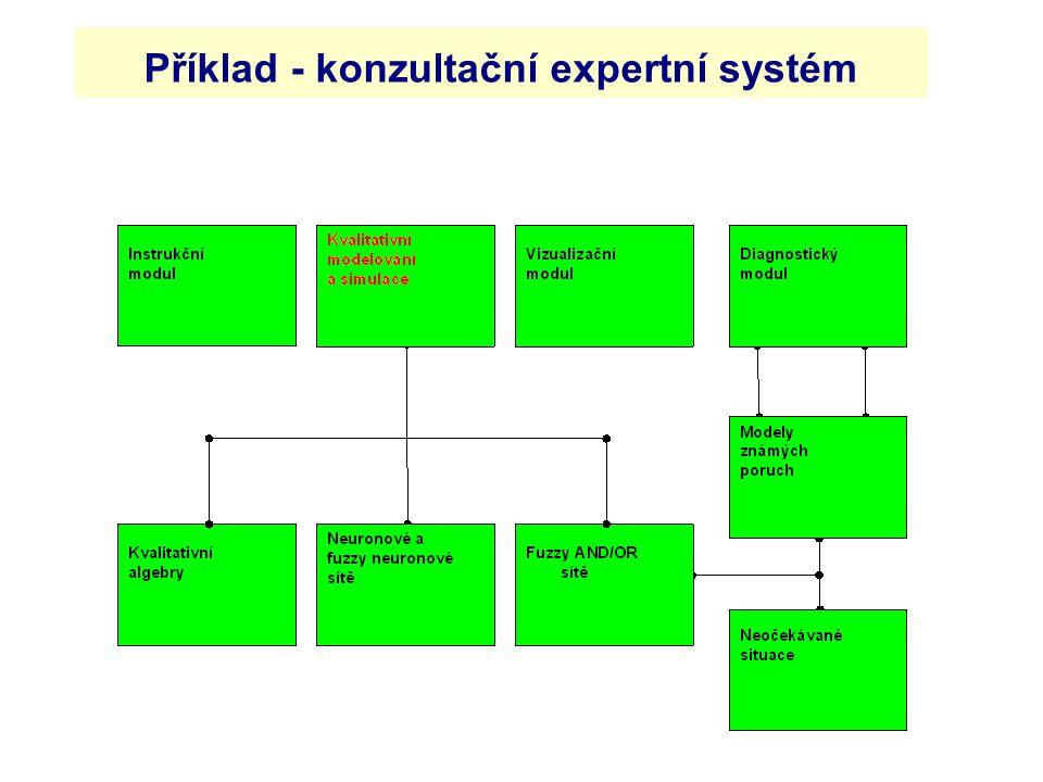 Příklad - konzultační expertní systém