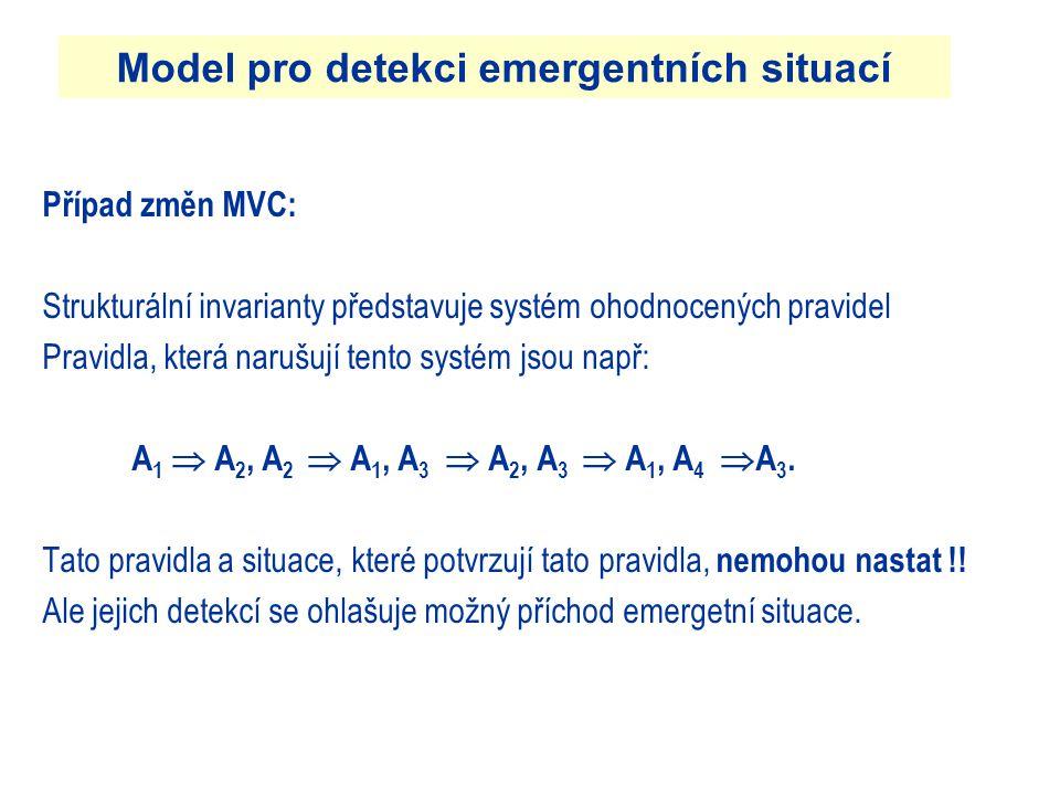 Model pro detekci emergentních situací