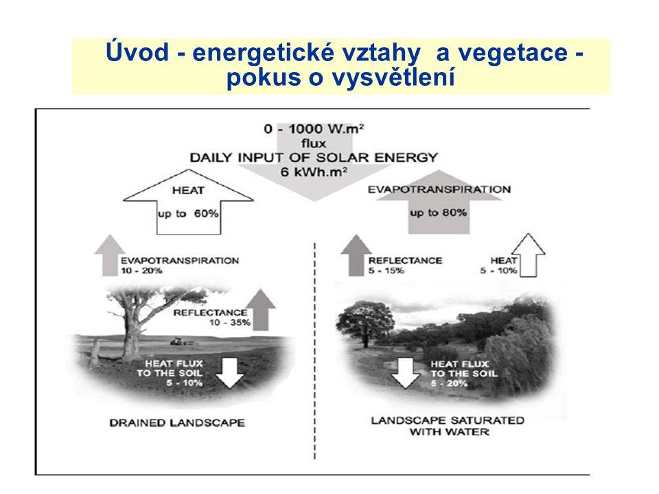Úvod - energetické vztahy a vegetace - pokus o vysvětlení