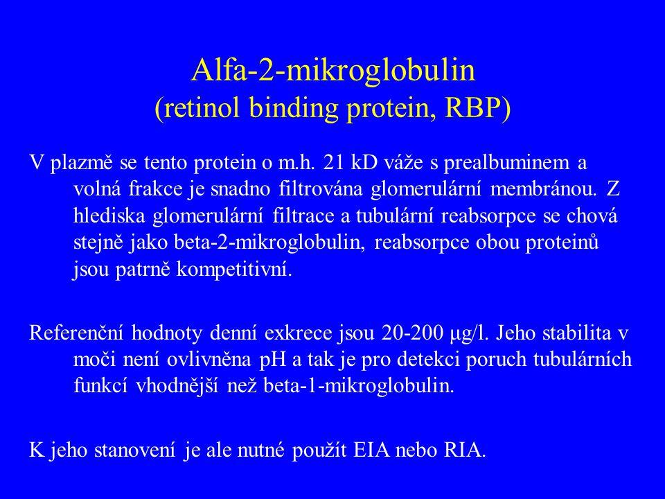 Alfa-2-mikroglobulin (retinol binding protein, RBP)