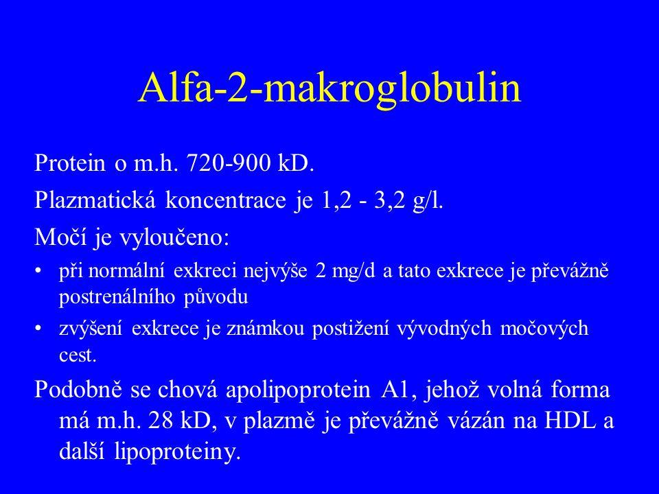 Alfa-2-makroglobulin Protein o m.h. 720-900 kD.