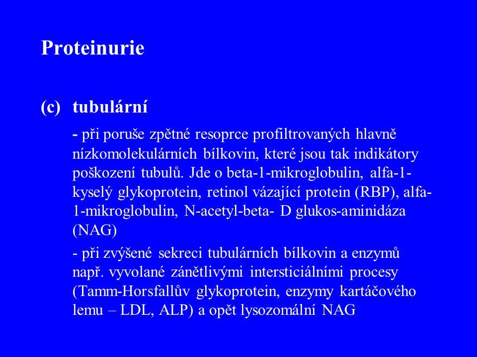Proteinurie tubulární