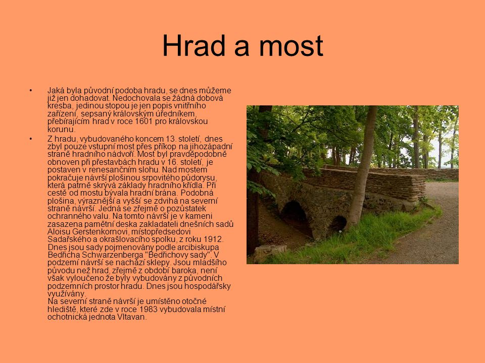 Hrad a most