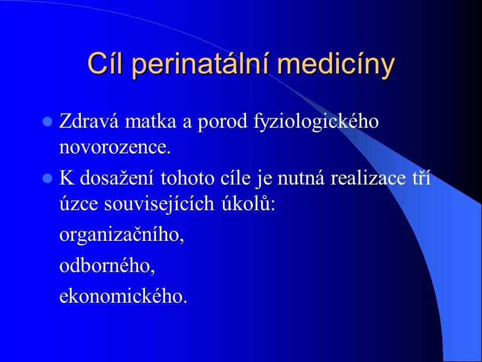 Cíl perinatální medicíny