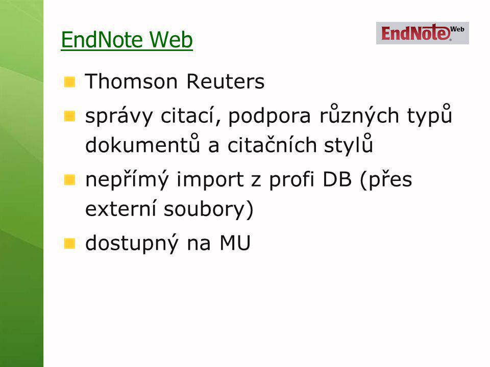 EndNote Web Thomson Reuters