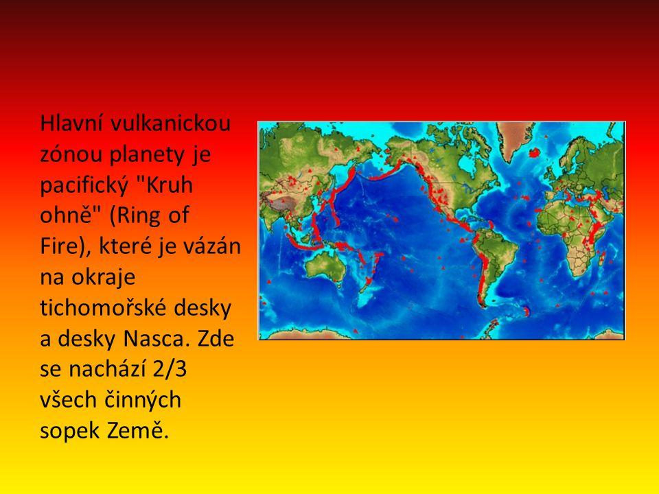 Hlavní vulkanickou zónou planety je pacifický Kruh ohně (Ring of Fire), které je vázán na okraje tichomořské desky a desky Nasca.