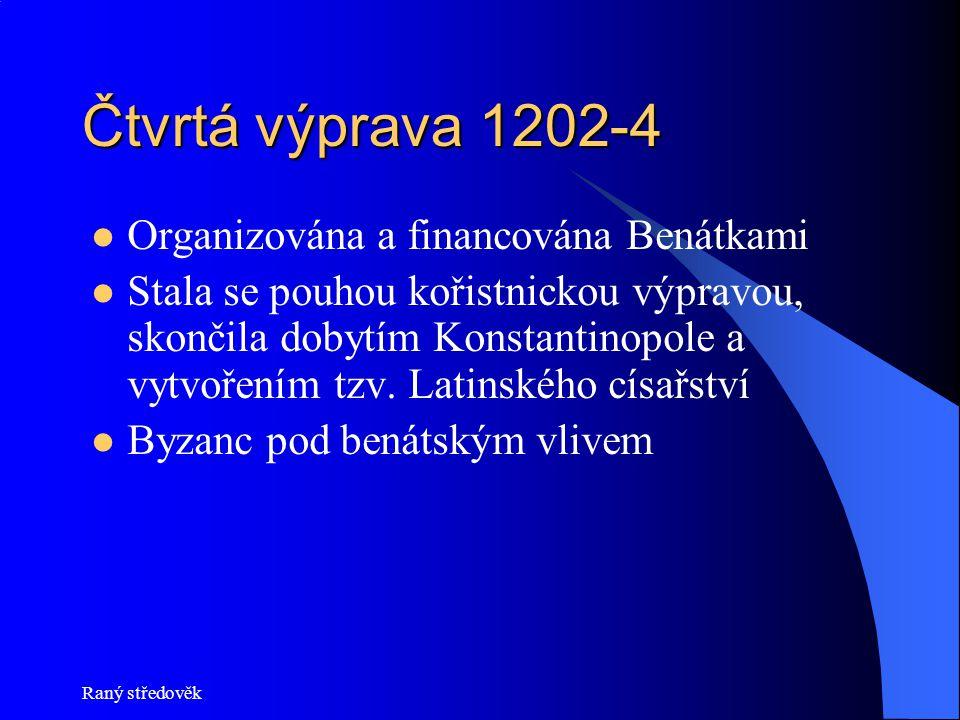 Čtvrtá výprava 1202-4 Organizována a financována Benátkami