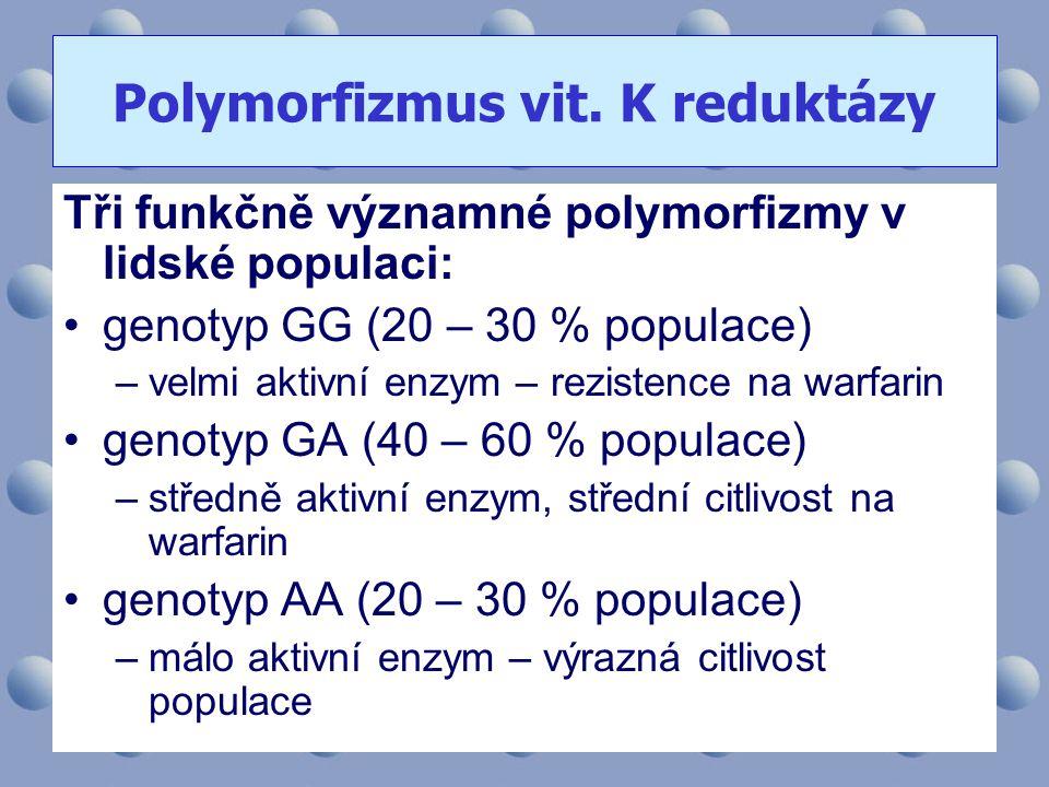 Polymorfizmus vit. K reduktázy
