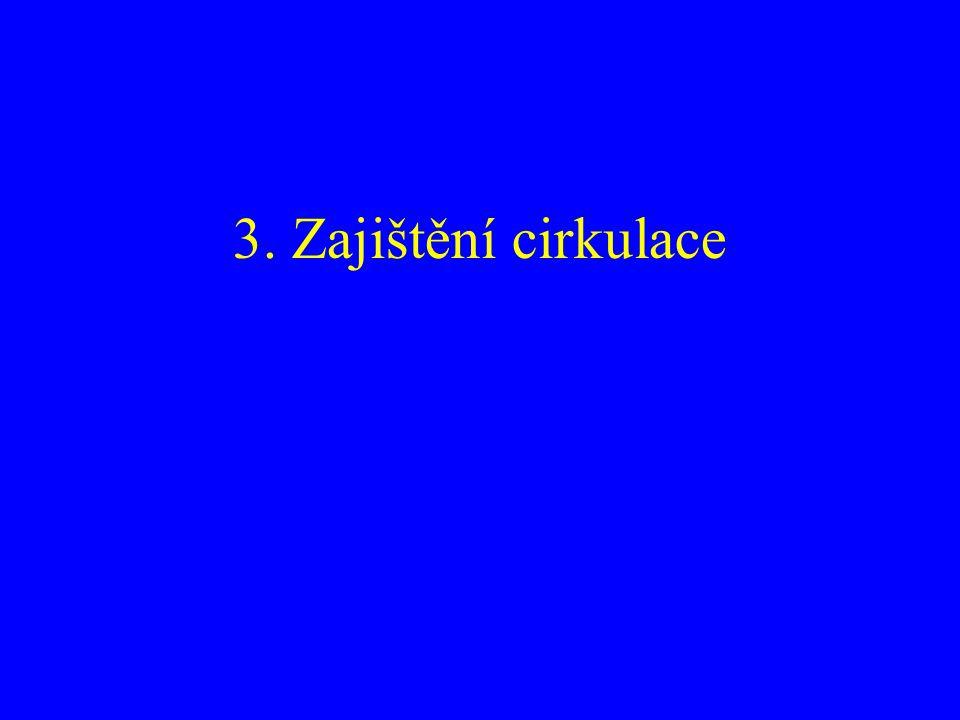 3. Zajištění cirkulace