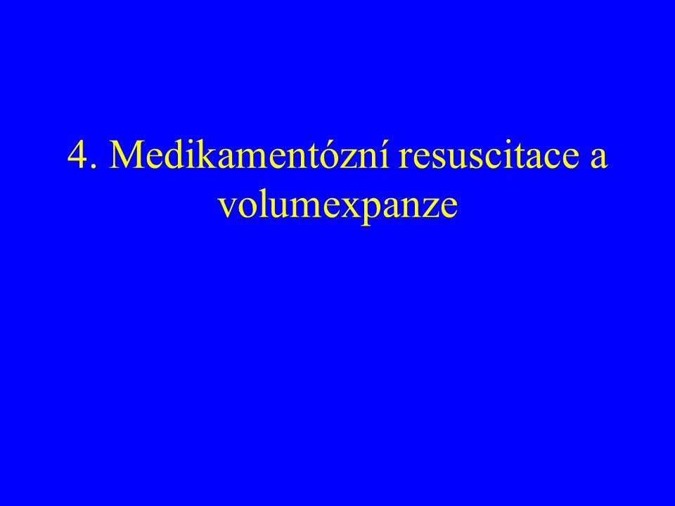 4. Medikamentózní resuscitace a volumexpanze