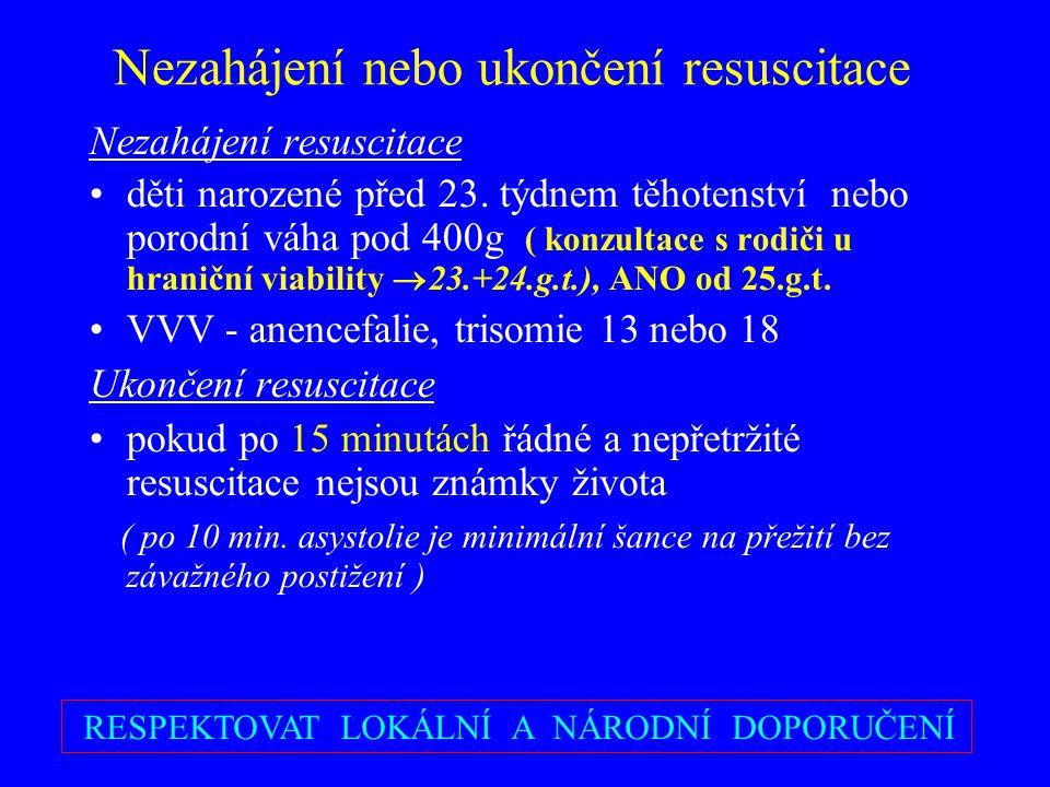 Nezahájení nebo ukončení resuscitace