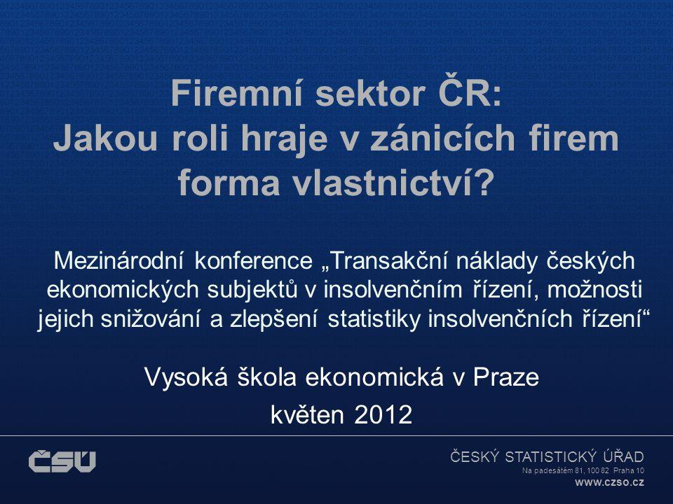Vysoká škola ekonomická v Praze květen 2012