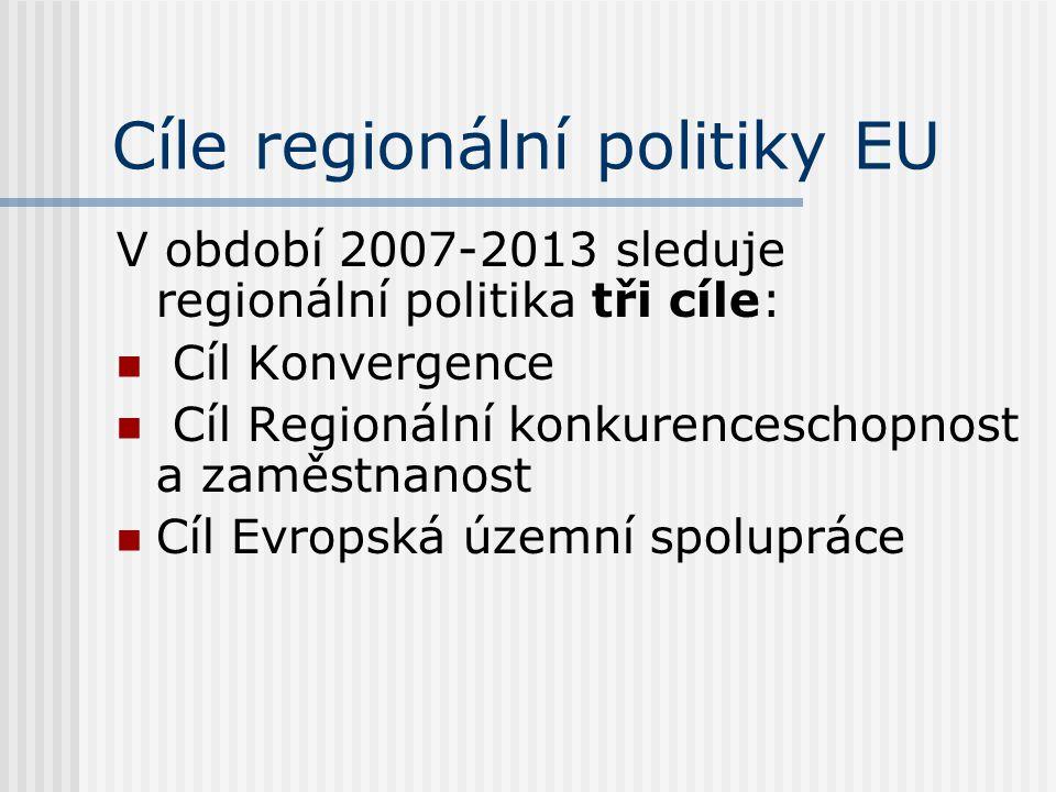 Cíle regionální politiky EU