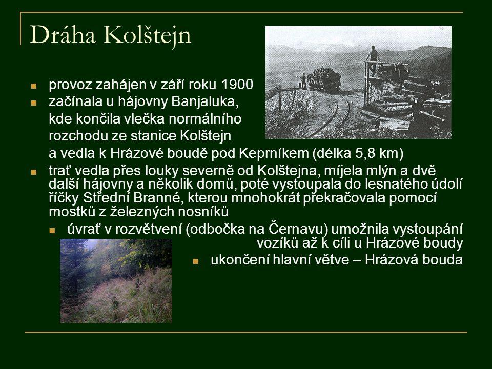 Dráha Kolštejn provoz zahájen v září roku 1900