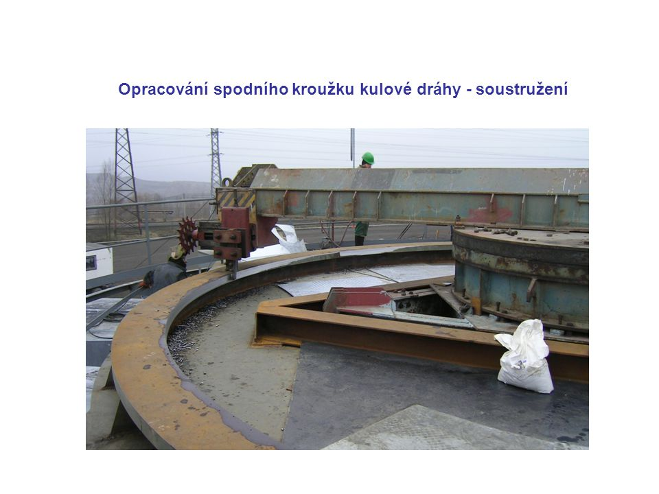 Opracování spodního kroužku kulové dráhy - soustružení