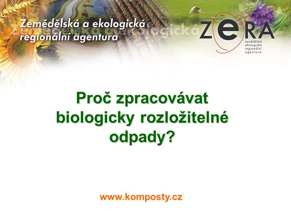 Proč zpracovávat biologicky rozložitelné odpady