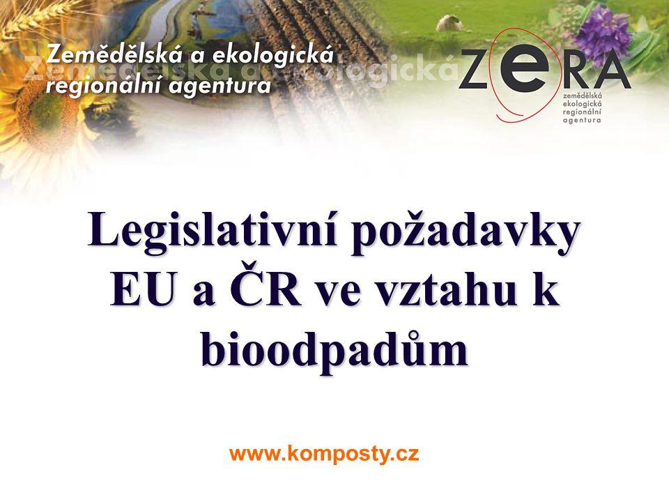 Legislativní požadavky EU a ČR ve vztahu k bioodpadům