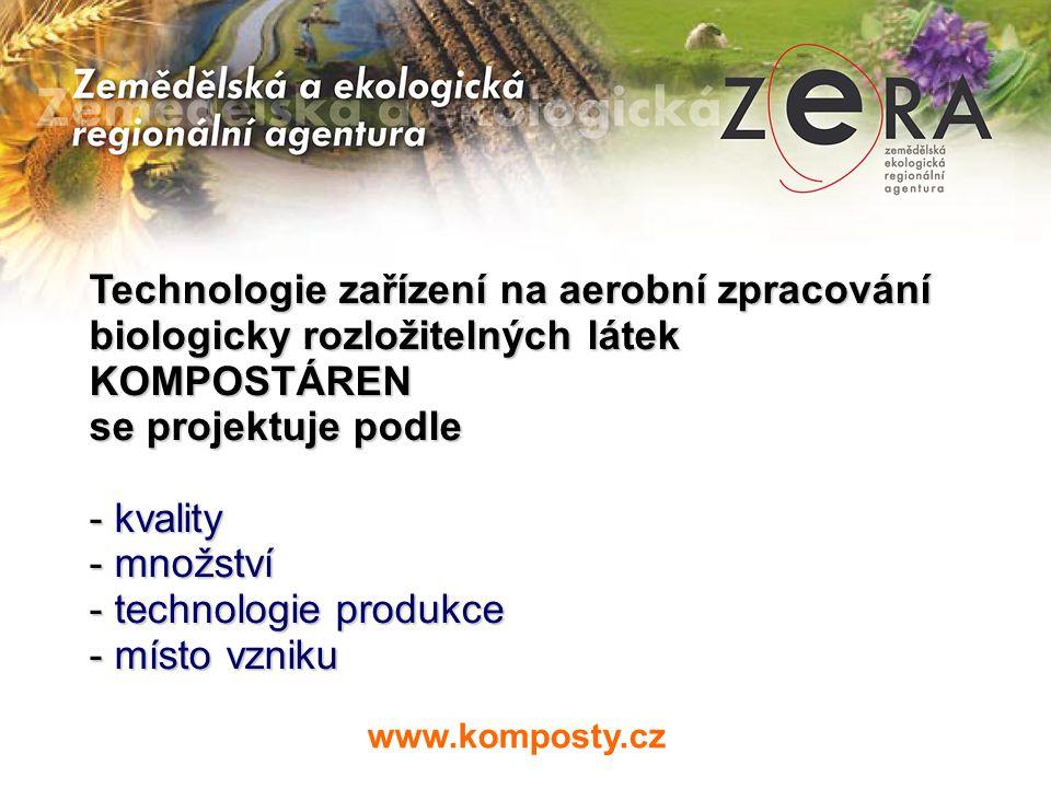 Technologie zařízení na aerobní zpracování biologicky rozložitelných látek