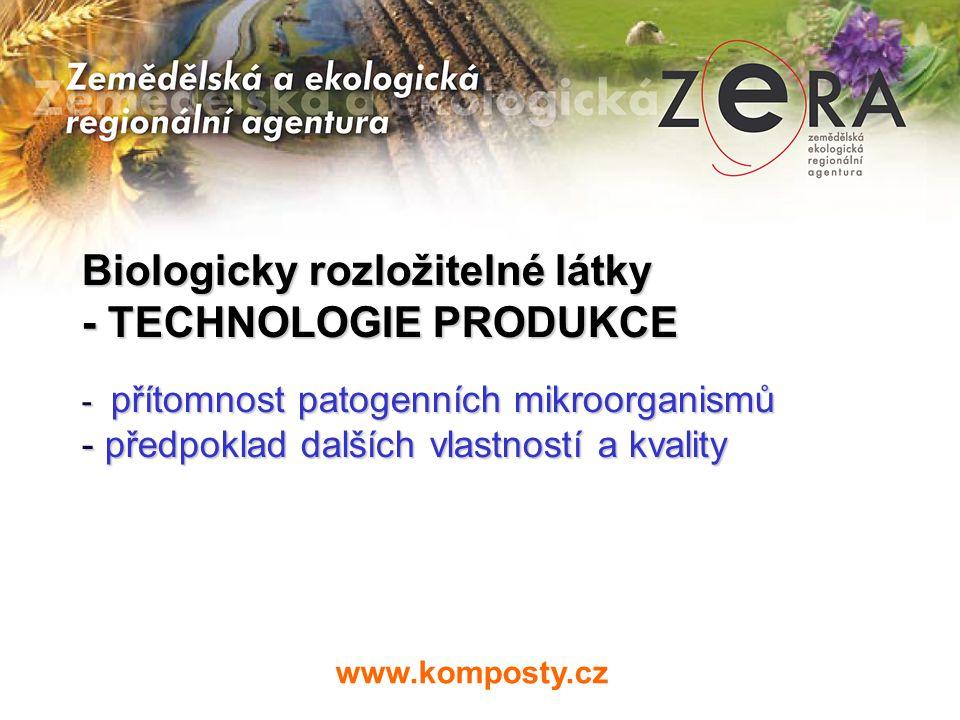 Biologicky rozložitelné látky - TECHNOLOGIE PRODUKCE