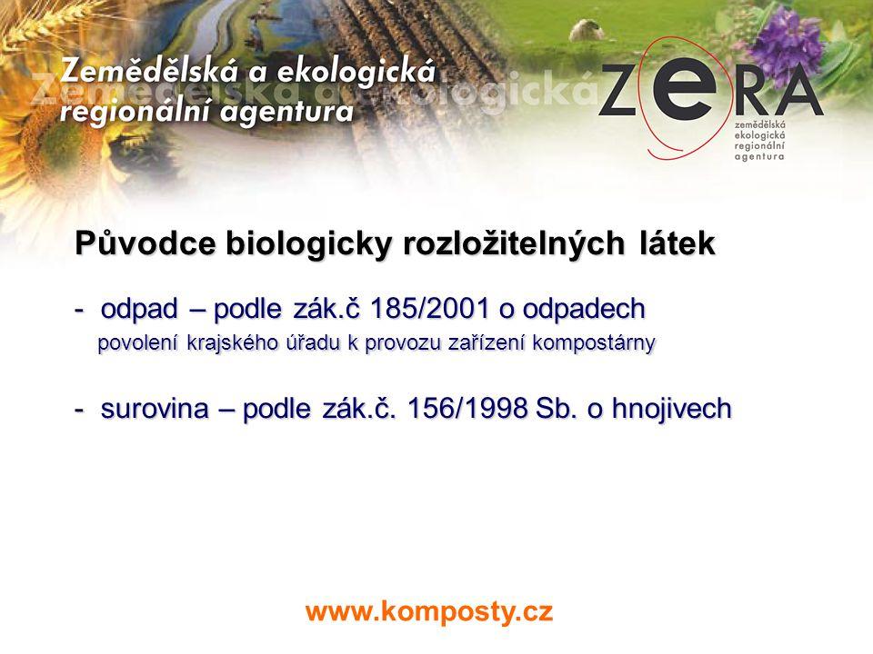 Původce biologicky rozložitelných látek