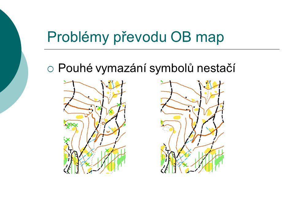Problémy převodu OB map