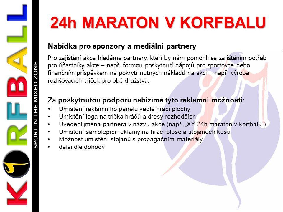 24h MARATON V KORFBALU Nabídka pro sponzory a mediální partnery