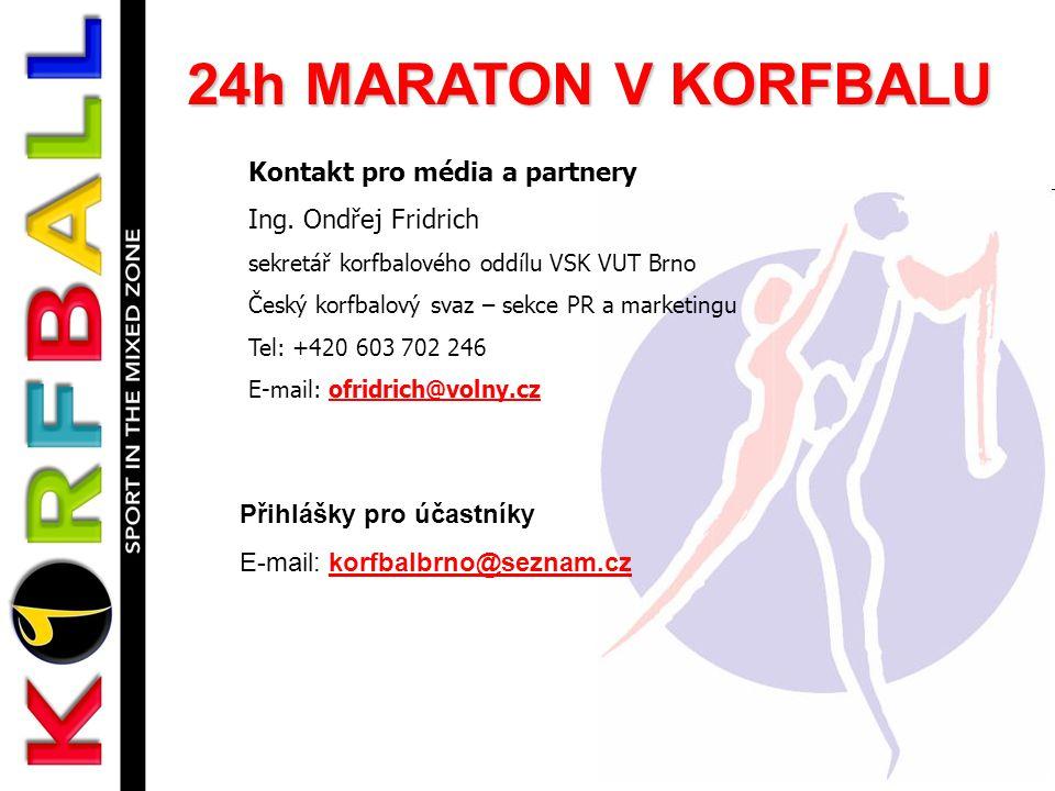 24h MARATON V KORFBALU Kontakt pro média a partnery
