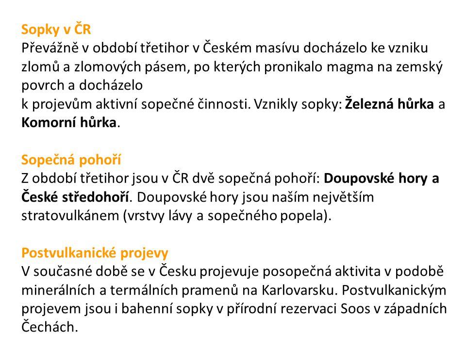 Sopky v ČR