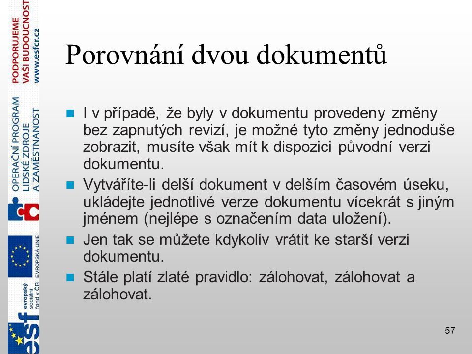 Porovnání dvou dokumentů