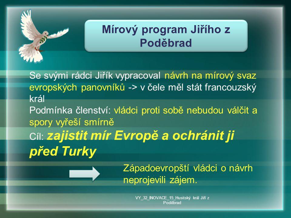 Mírový program Jiřího z Poděbrad