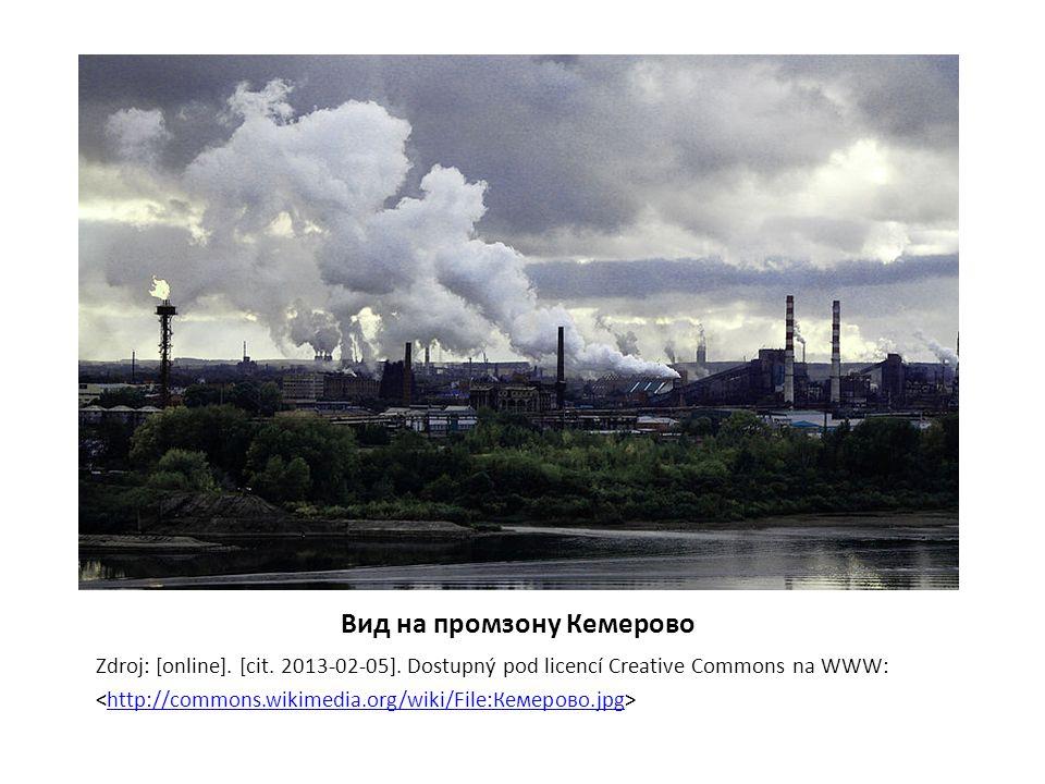 Вид на промзону Кемерово