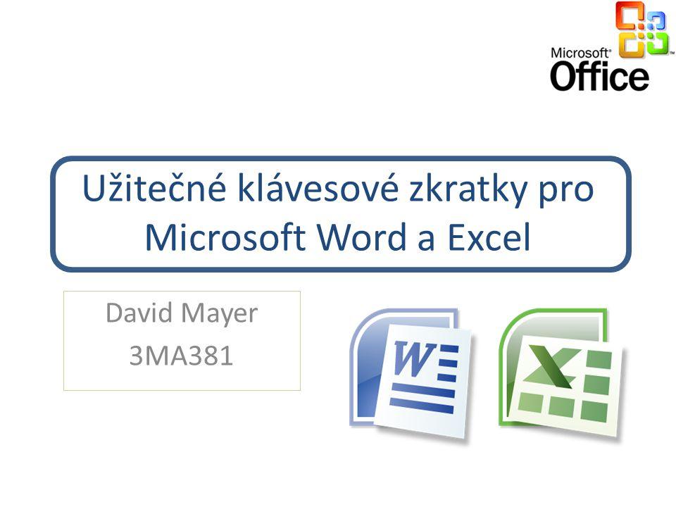 Užitečné klávesové zkratky pro Microsoft Word a Excel
