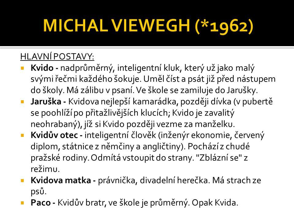 MICHAL VIEWEGH (*1962) HLAVNÍ POSTAVY: