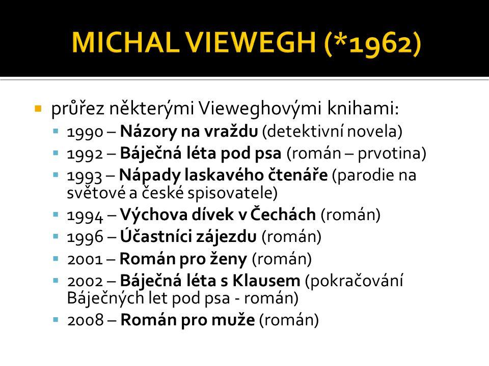 MICHAL VIEWEGH (*1962) průřez některými Vieweghovými knihami: