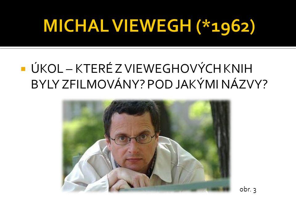 MICHAL VIEWEGH (*1962) ÚKOL – KTERÉ Z VIEWEGHOVÝCH KNIH BYLY ZFILMOVÁNY POD JAKÝMI NÁZVY obr. 3