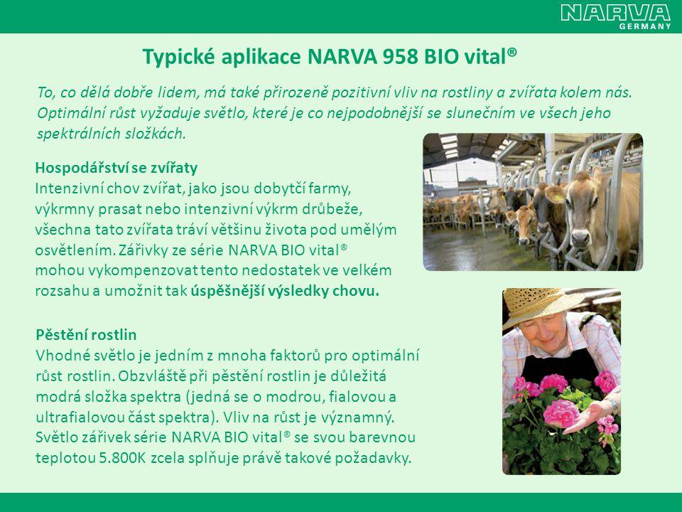 Typické aplikace NARVA 958 BIO vital®