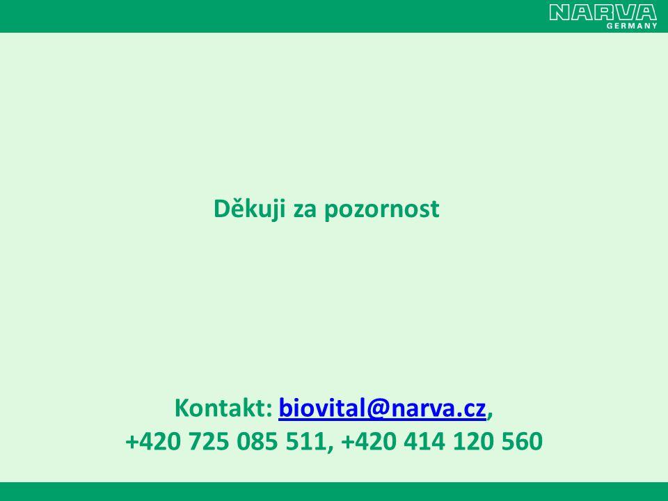 Kontakt: biovital@narva.cz,