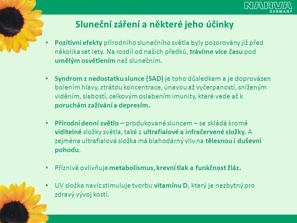 Sluneční záření a některé jeho účinky