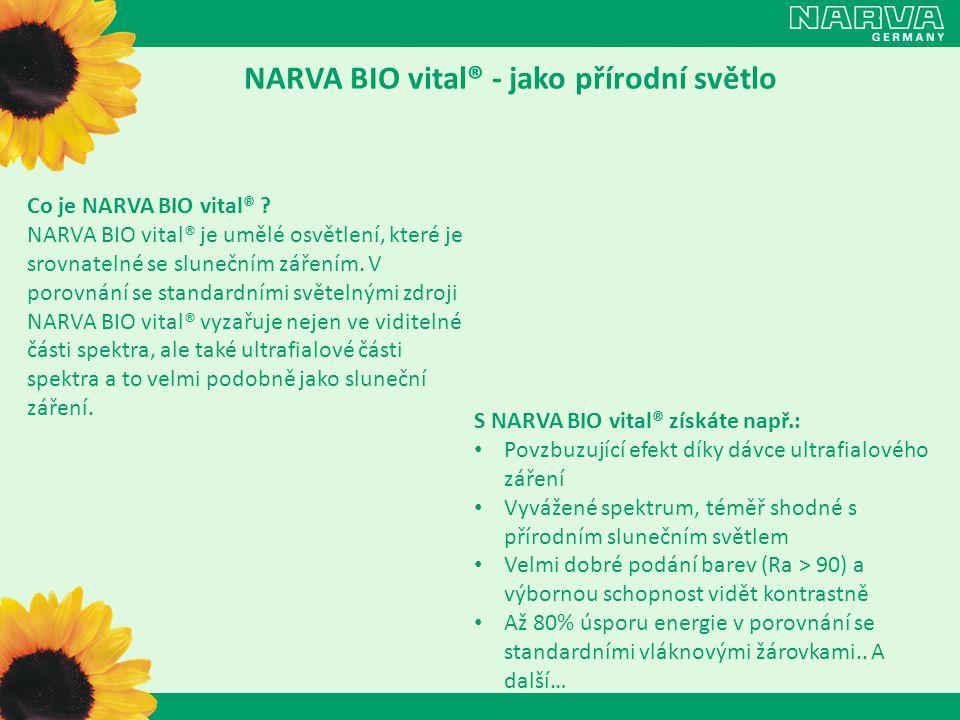 NARVA BIO vital® - jako přírodní světlo