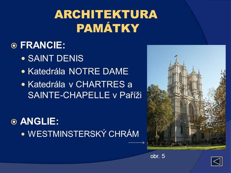 ARCHITEKTURA PAMÁTKY FRANCIE: ANGLIE: SAINT DENIS Katedrála NOTRE DAME