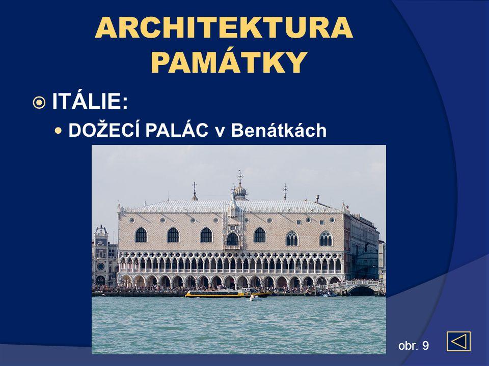 ARCHITEKTURA PAMÁTKY ITÁLIE: DOŽECÍ PALÁC v Benátkách obr. 9
