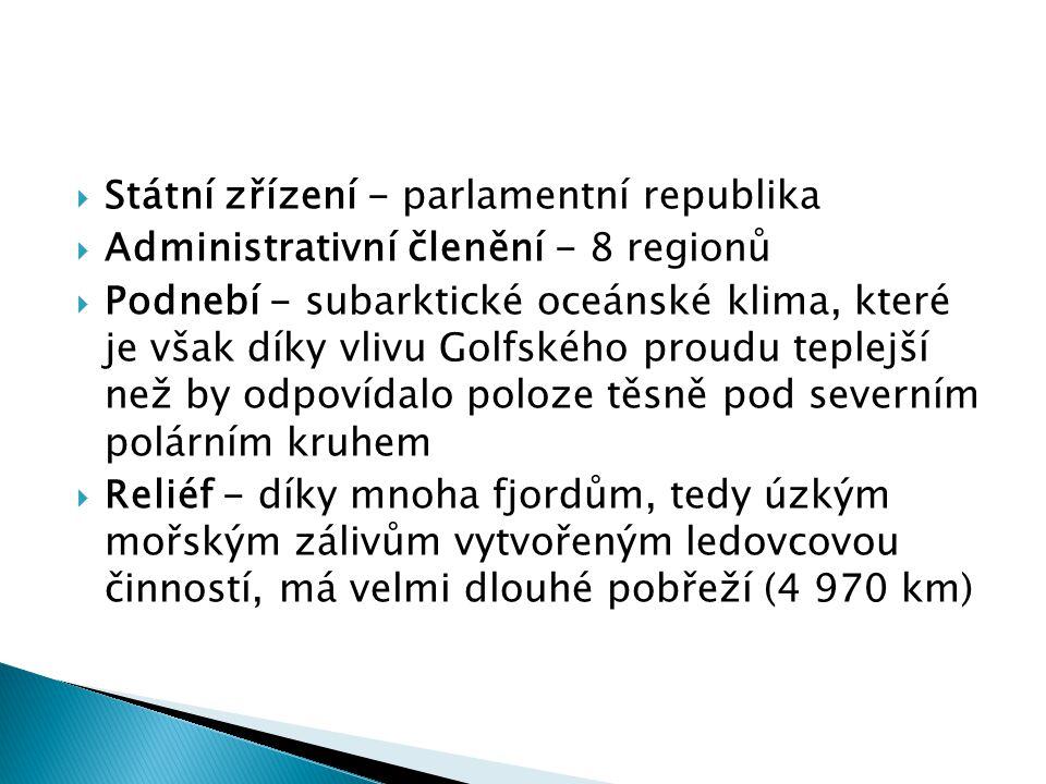 Státní zřízení - parlamentní republika