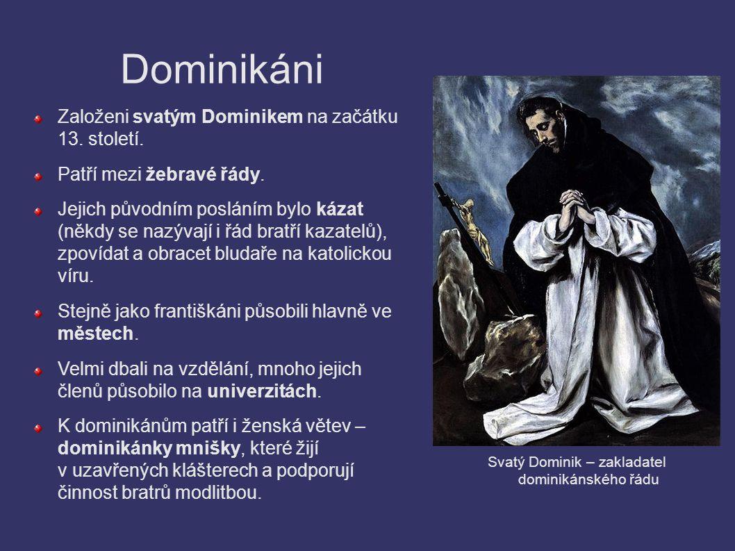 Svatý Dominik – zakladatel dominikánského řádu