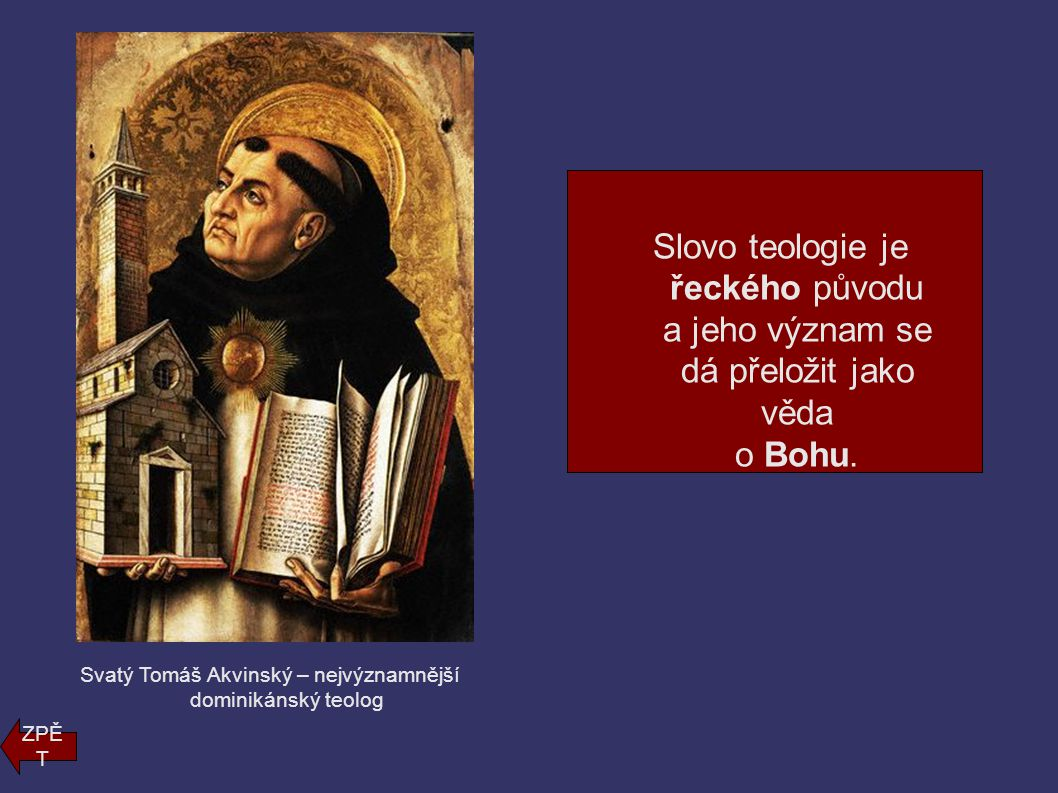 Svatý Tomáš Akvinský – nejvýznamnější dominikánský teolog