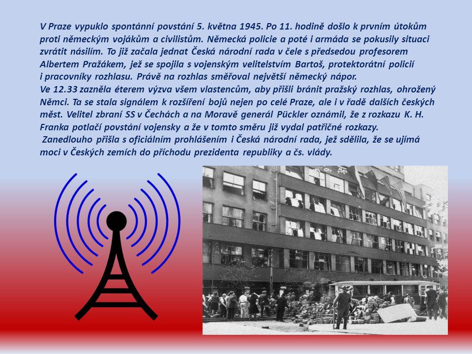 V Praze vypuklo spontánní povstání 5. května 1945. Po 11