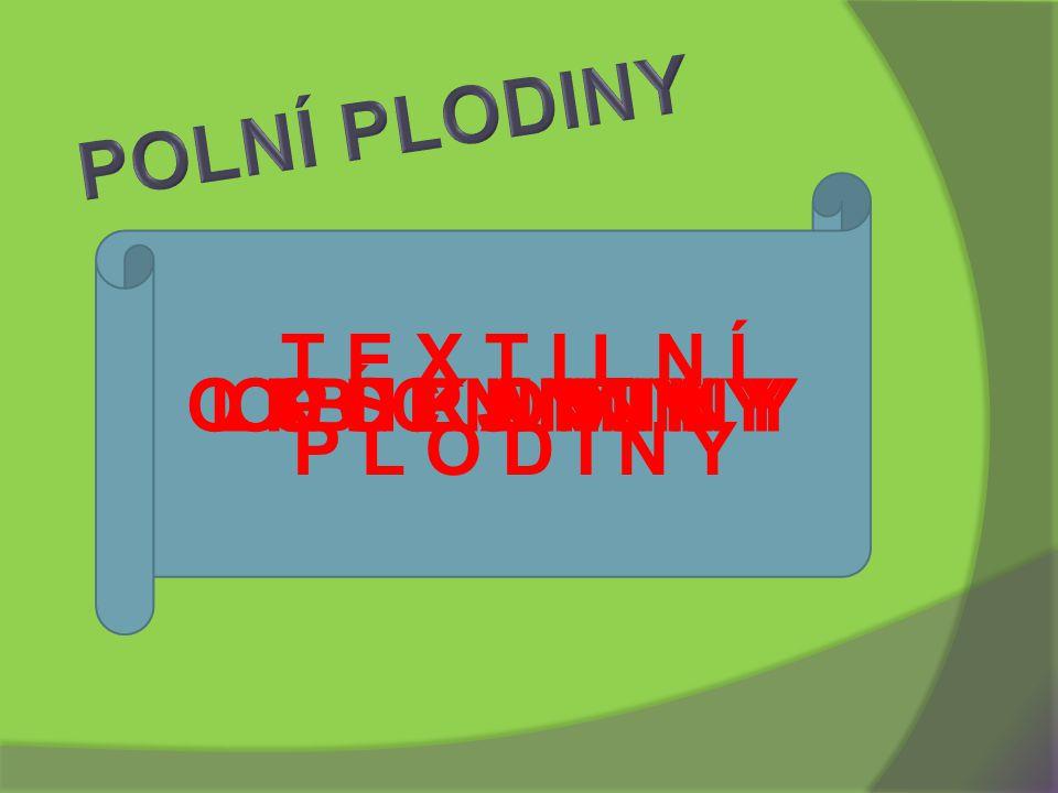 POLNÍ PLODINY T E X T I L N Í P L O D I N Y O K O P A N I N Y