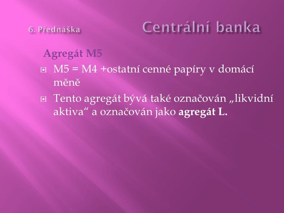 6. Přednáška Centrální banka