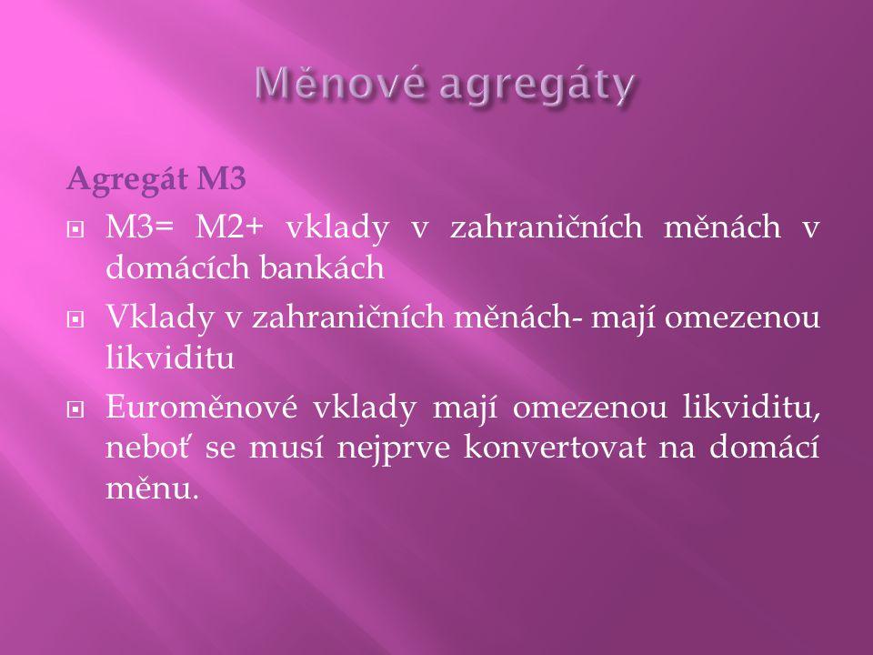 Měnové agregáty Agregát M3