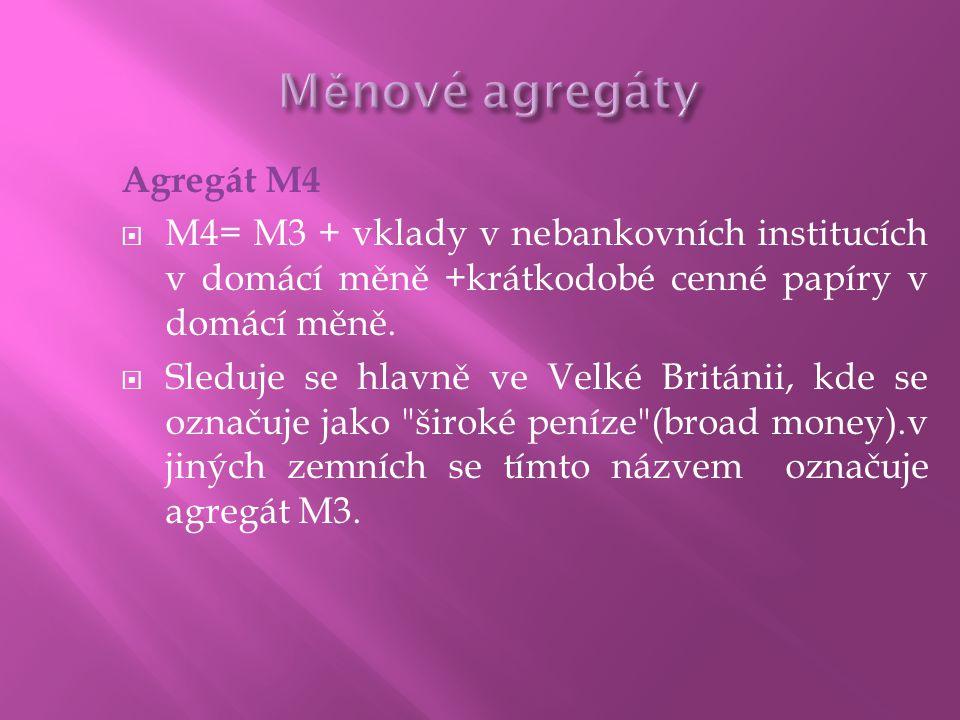 Měnové agregáty Agregát M4