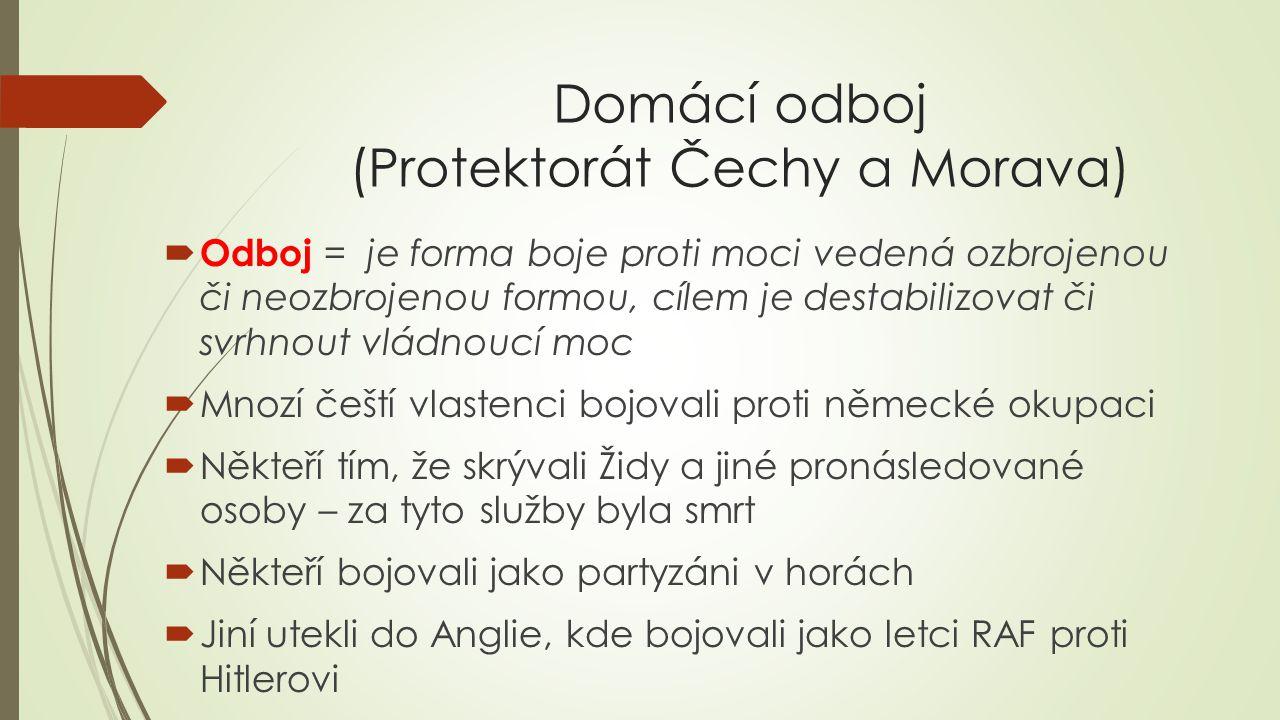 Domácí odboj (Protektorát Čechy a Morava)